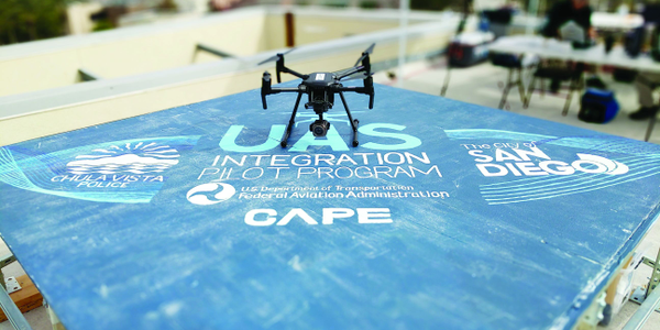 Cape's pilot program with the Chula Vista (CA) Police Department involves using drones not in...