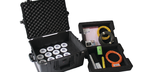 K2 Solutions' Canine Scent Kit comes in a hard case with all materials organized and labeled.