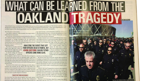 On March 22, 2009, what began with a traffic stop by one motor officer ended in the shooting...