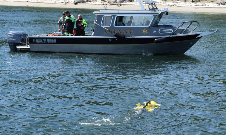 JW Fishers' ROVs can find evidence such as firearms or even bodies under water, protecting law enforcement dive teams from dangerous current and pollution.  - Photo: JW Fishers