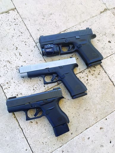 The G48's slide is just under an inch longer than the G43 and about the same as a G19 double-stack pistol.