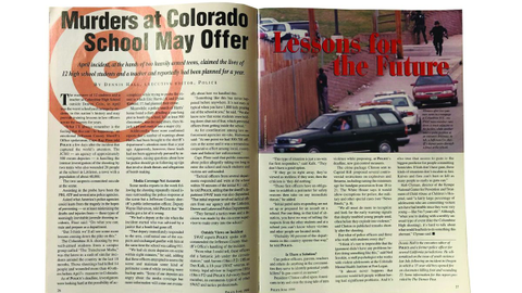 Not long after the school shooting at Columbine High School in Littleton, CO, POLICE ran an...
