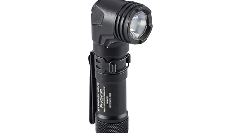 Streamlight's ProTac 90 Flashlight has an anglehead and is designed to be clipped to gear.