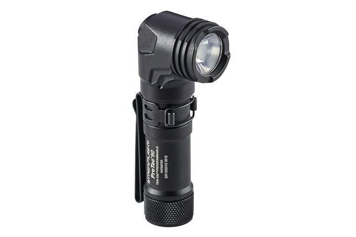 Streamlight's ProTac 90 Flashlight has an anglehead and is designed to be clipped to gear.  - Photo: Streamlight