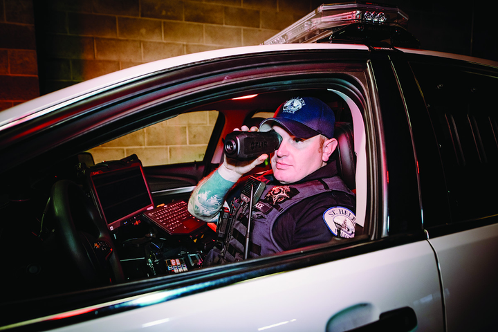 """Thermal systems such as this FLIR Systems Scion PTM cannot """"see"""" through glass. So users must roll down the window or use an externally mounted system.  - Photo: FLIR Systems"""