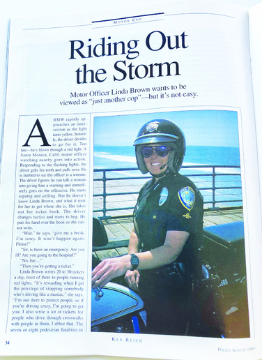 Riding Out the Storm: profile of Motor Officer Linda Brown