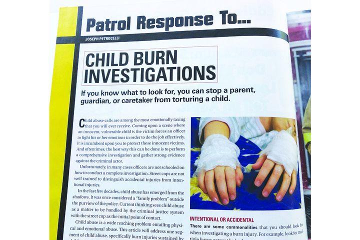 Patrol Response To…Child Burn Investigations  - Photo: magazine scan
