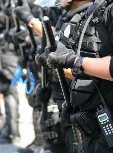 The Tucson (AZ) Police Department (not pictured) has a Mobile Field Force to handle riot response, but the agency's goal is to not need it.  - Photo: Gettyimages.com/ filo