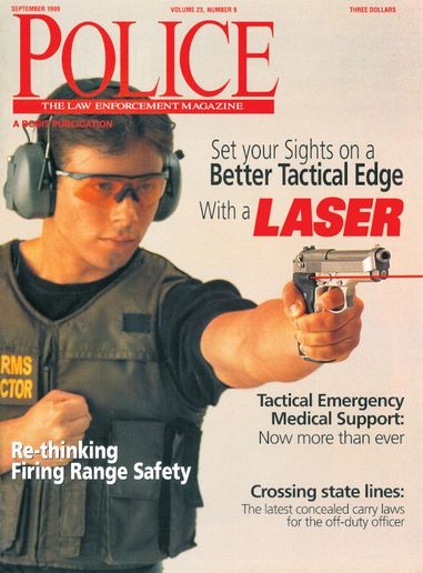 """Having a laser-equipped firearm doesn't reduce the need for training."" - Image: scan of Police Magazine pages"