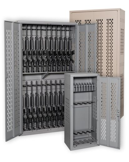 Argos Security offers secure Weapon Storage Cabinets with single- or double-hinged doors.  - Photo: Argos Security