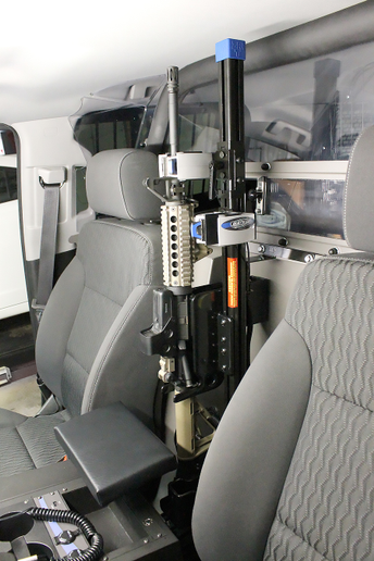 Jotto Desk's patented ZRT AR Secure Gun Rack, featuring SmartLok Technology, is designed to provide the ultimate in weapon security.  - Photo: Jotto Desk