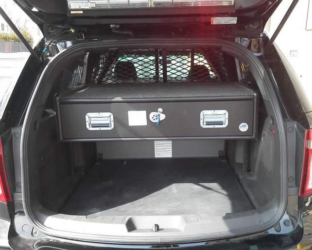 Ford Police Interceptor Cabinet Systems are a staple product of Pugs Cabinet Systems.  - Photo: Pugs Cabinet Systems
