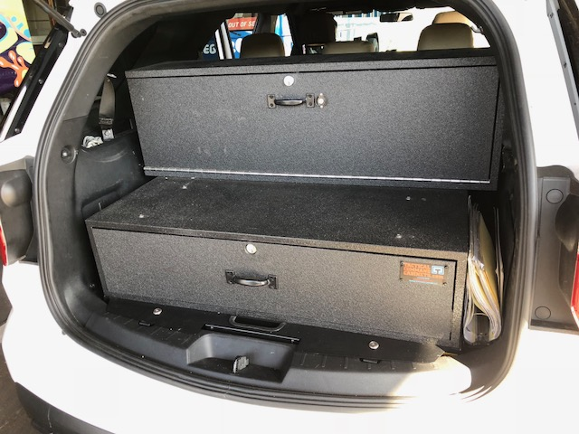 The TAC-RDY400 from Tactical Command Cabinets carries three long guns and ammo in the top cabinet, which locks separately.  - Photo: Tactical Command Cabinets