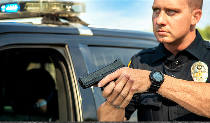 Glock decided to unveil its G45 duty pistol at this year's IACP. And the pistol was one of the hits of the show, as officers came to the booth to get some hands-on time with it.  - Photo: Glock