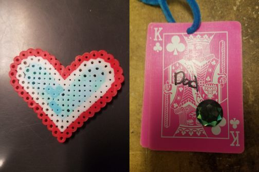 "One officer said he carries a plastic heart his daughter made for him. In the pocket of his trauma plate he carries a playing card on which his other daughter wrote ""Dad.""  - Photo from anonymous officer"