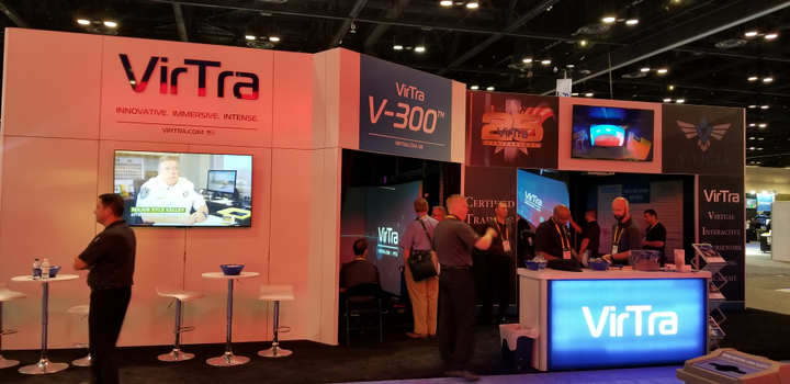 A little more than a week before IACP VirTra announced the launch of the VirTra-Virtual Interactive Coursework Training Academy (V-VICTA), an interactive training program for users of VirTra's simulators.  - Photo: David Griffith