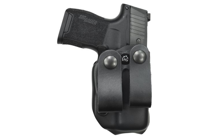 Gould & Goodrich's new Delta Wing holsters is available in IWB (shown) and OWB versions. Both come with paddle and belt attachments. - Photo: Gould & Goodrich
