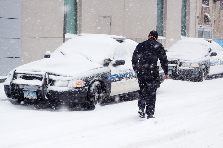Officers working in some of the coldest parts of the country need the right equipment and tactics to cope with the cold. - Photo: Getty Images