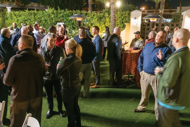 PTX attendees enjoy an evening barbecue. -