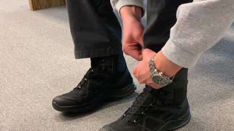 Haix sent out 1,000 pairs of Black Eagle Side Zip boots to law enforcement officers for a...
