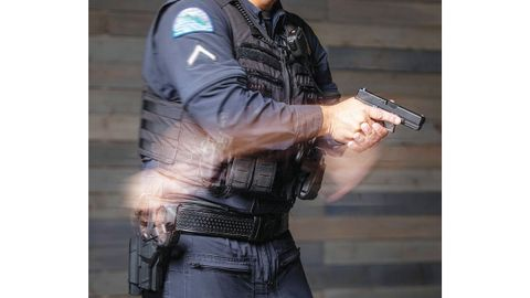 Alien Gear's new Rapid Force duty holster is designed to allow for faster draw times and to...