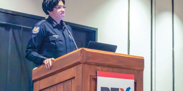Phoenix Police Chief Jeri Williams gives one of the keynote speeches at PTX 2019.