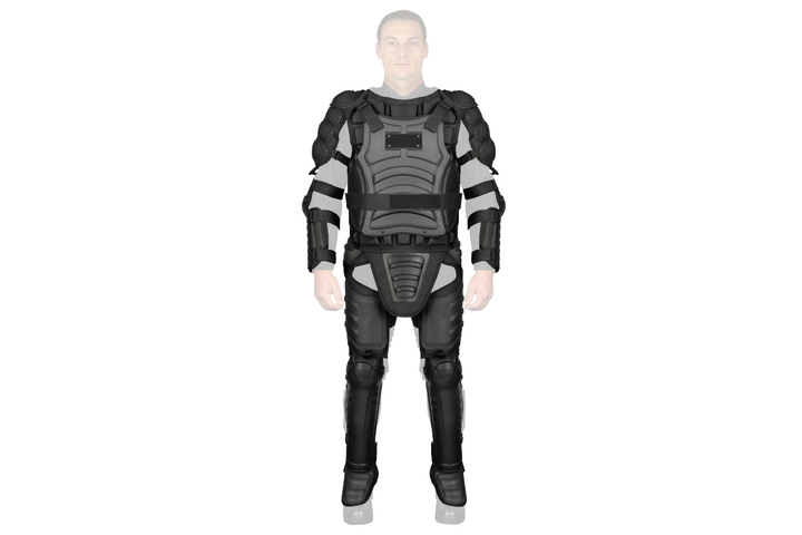 Monadnock's new riot suit is made of a rigid polypropylene polymer and features enhanced characteristics for optimal comfort and protection in crowd control situations. (Photo: Safariland) -