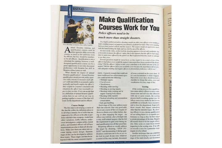 Make qualifications courses work for you. - Image: scan of pages from POLICE