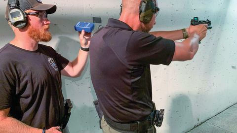 For handgun optics qualification protocol, the issue is whether to have officers qualify with...