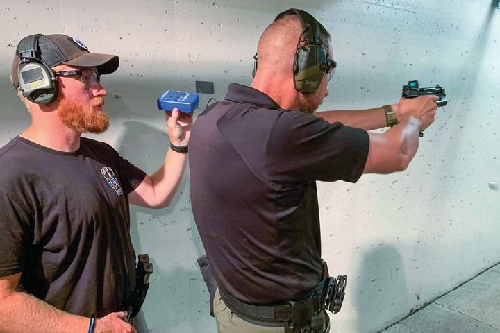 For handgun optics qualification protocol, the issue is whether to have officers qualify with the optics or their iron sights or both. - Photo: Tactically Sound