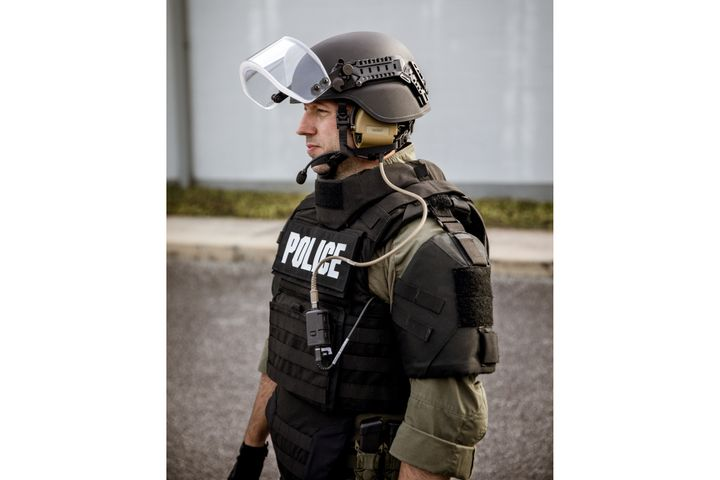 Busch PROtective AMP-1 TP helmet from Armor Express - Photo: Armor Express