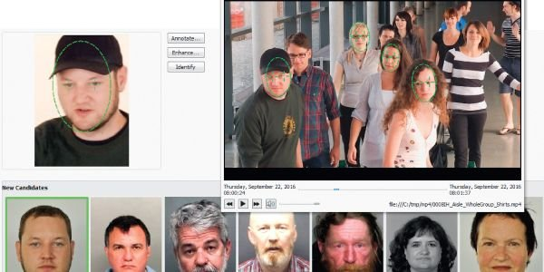 Using Cognitec's FaceVACS-DBScan LE video investigation feature, an officer can search for a...