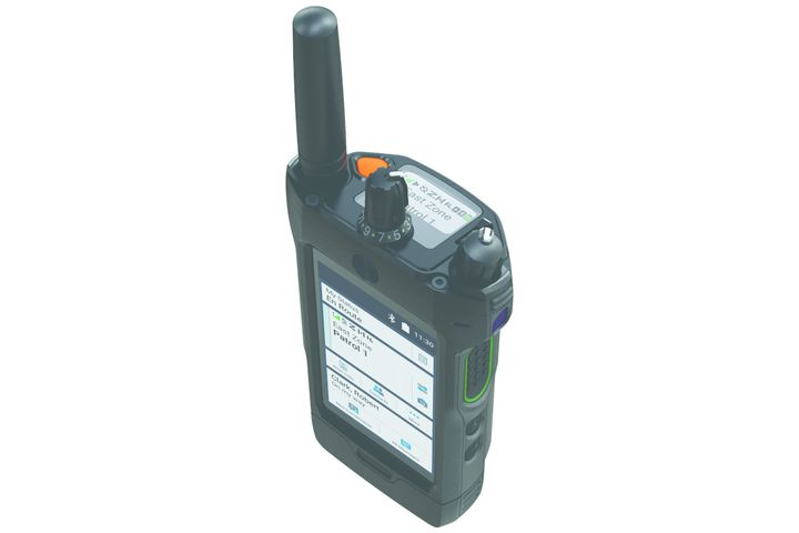 Motorola's APX NEXT radio is a combination Project 25 radio handset and LTE device. It features voice operated controls. (Photo: Motorola Solutions) -