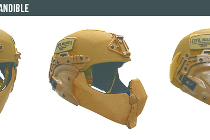 Team Wendy's EXFIL Ballistic Mandible shields the wearer's face and ears with a ballistic coverage area of a little more than 72 inches. (Photo: Team Wendy) -
