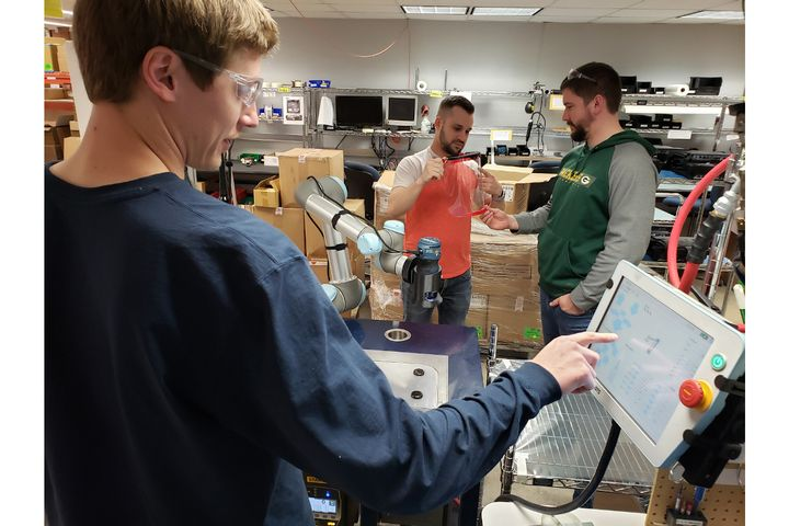 Gamber-Johnson, which normally manufactures mounting systems for devices in public safety vehicles, partnered with a central Wisconsin not-for-profit to create components for face shields. (Photo: Gamber-Johnson) -
