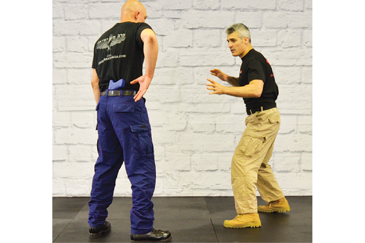 Rear Waistband Disarming with Police Krav Maga
