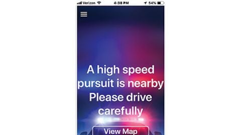 PursuitAlert is a two-part system. Officers can trigger an alert via a center console control...