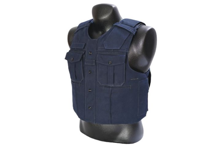 Buyers of Point Blank's new Guardian crossover external armor carrier can choose from a wide variety of options, including a slick uniform-style front (pictured) or a load-bearing version with MOLLE. (Photo: Point Blank) -