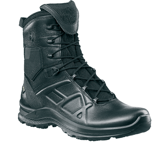 The Black Eagle Tactical 2.0 GTX High Side Zip with Gore-Tex is a lightweight waterproof boot with insulation to keep feet comfortable.  -