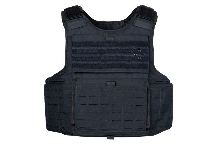 Armor Express' Hard Core L3 outer carrier features laser cuts, bridging the gap between a tactical and a clean overt appearance. -