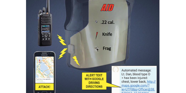 The AID panel will automatically send an alert telling other officers that you have been injured...