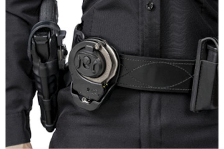 Positioning the cuffs in the front of your body can make them easier to access. -