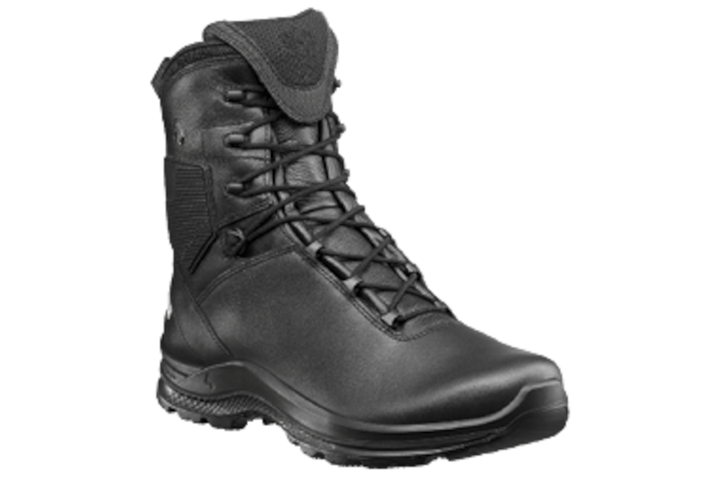 HAIX's Black Eagle Tactical 2.0 FL boots are all leather with a CrossTech liner to keep feet dry. It also protects the wearer from bodily fluids. -