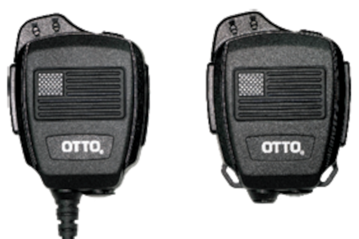 "The OTTO ""police pride"" REVO NC2 speaker mics are compatible with many major radio manufacturers. -"