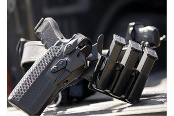 The 7TS holster from Safariland is specifically designed to secure pistols fitted with red dot optics. The holster features ALS retention. -