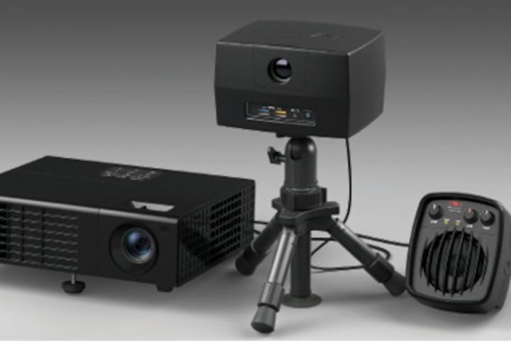 Designed to have a very small footprint, DART Range consists of a projector and a control box. It can be used in an average size room. -