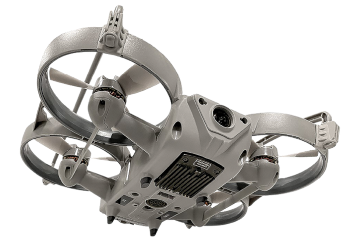 The Sky-Hero Loki Mk2 is a drone that was purpose built for building searches. It features rugged construction and shielded rotors so it can be bounced off walls. -