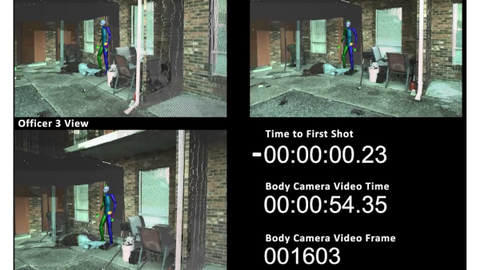 Knott Laboratory produced this second-by-  second video analysis of an officer-involved shooting.