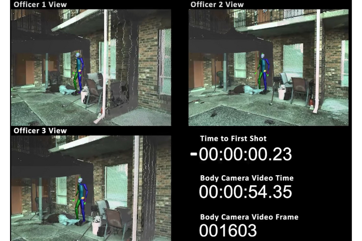 Knott Laboratory produced this second-by-  second video analysis of an officer-involved shooting. -