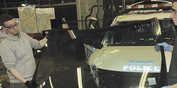 In the May 2020 riots more than 600 pieces of glass were smashed on NYPD vehicles, as more than...